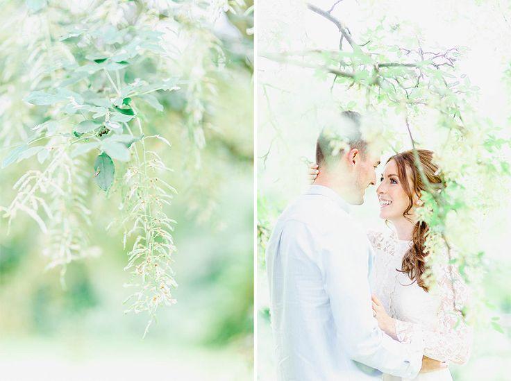 Romantic engagement shoot in pastel tones in Kent, UK