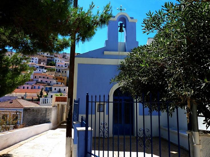 Church in Kea,Ioulida, Kea island, Cyclades, Greece,Hellas,Summer