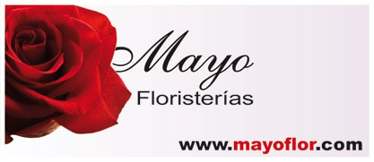 Cartel de medio formato (2.4m) para bus (lado derecho, junto a puerta) en Salamanca, para Floristerías Mayo.   //  Mid-size art for buses (right side after door) at Salamanca, Spain, designed for Mayo Floristerias (flowers-shop)