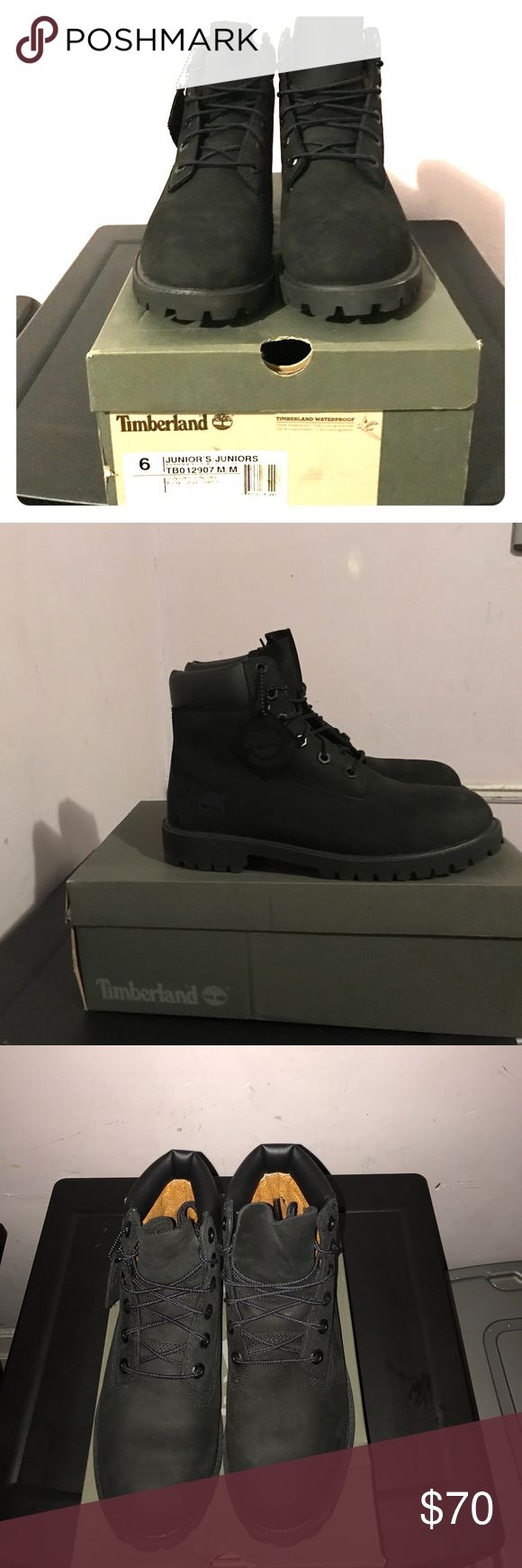 Timberland Junior's size 6 Brand new never worn all black Timberland's Timberland Shoes Boots