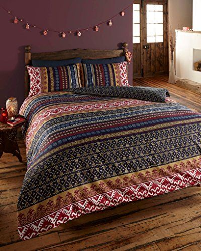 ETHNIC INDIAN PRINT BEDDING - QUILT COVER BED SET WITH PILLOW CASES (double)