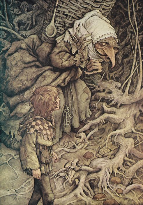 A very cool and scary Crone by Brian Froud. Crones have always inspired fear and respect due to their close connection to and understanding of death.