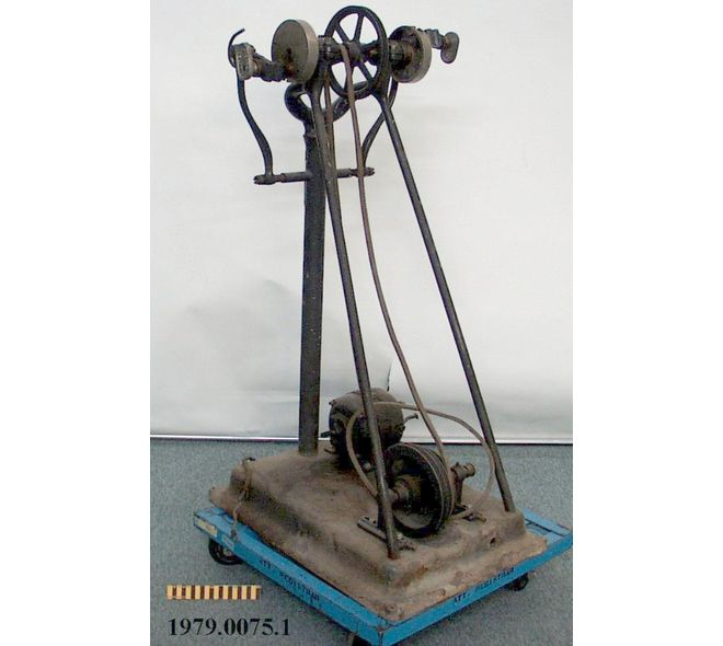 """REDUCING MACHINE : Manufactured after 1926. """"Used to treat overweight or obese patients by means of external manipulation or vibration. To be healthy, you no longer had to use your own muscles for power; motors furnished the power to stretch and tone the body."""" This would have been equipped with a belt of brace in order to attach the patient to the machine. (Source: Picture link)"""