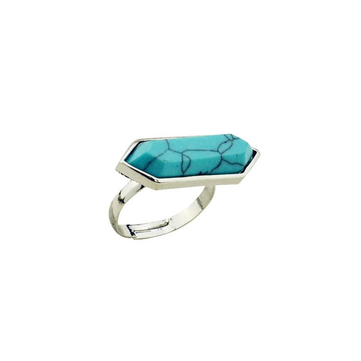 New fashion accessories jewelry turquoise stone finger ring mix color  for women girl nice gift R4040