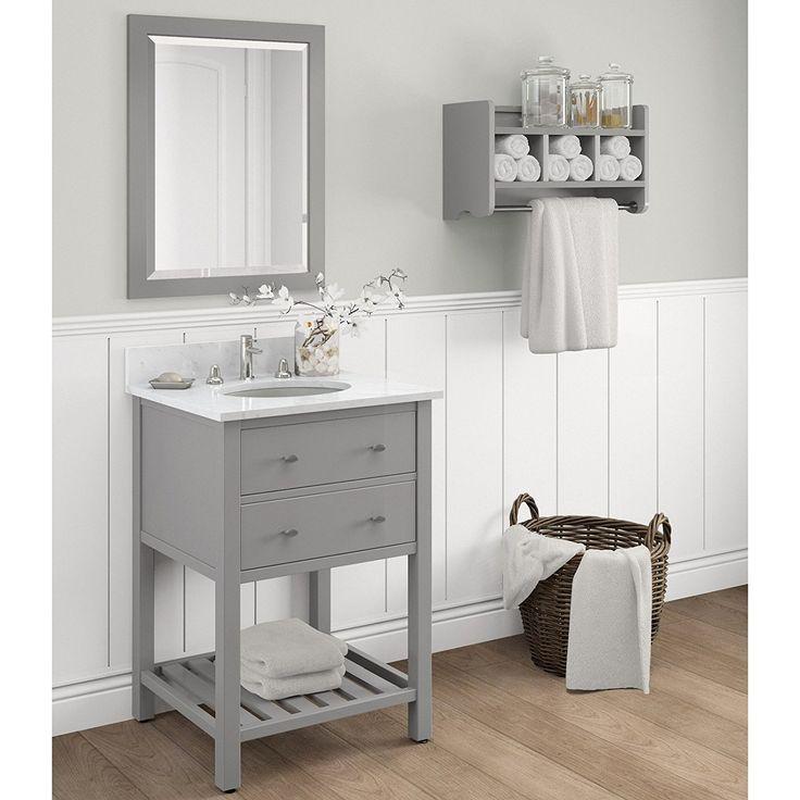 Amazon.com: Alaterre Harrison Single Bathroom Vanity Base ...