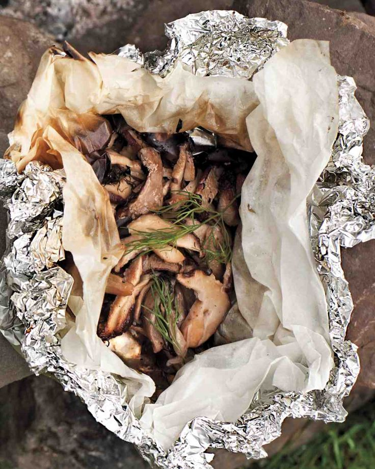 Mixed-Mushroom Hobo Pack: garlic, dill, and woodsy deliciousness.