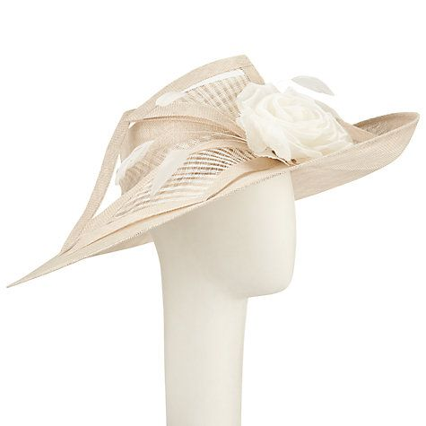 Buy John Lewis Abby Rose Side Up Occasion Hat, Oyster Online at johnlewis.com