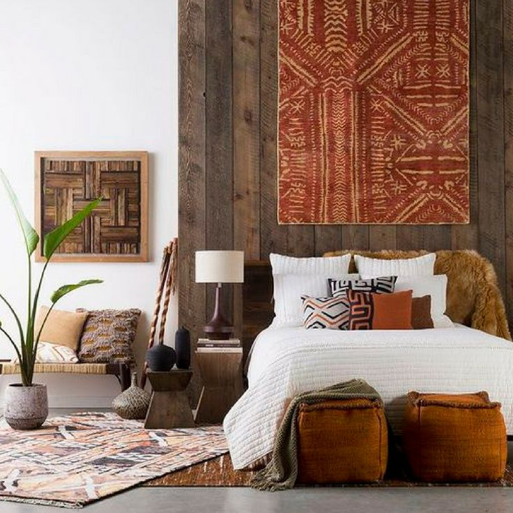 go big or go home with a sublime size piece of art over the bed burnt orange colororange color schemesmaster bedroom - Orange Color Bedroom Walls