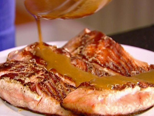 Asian Grilled Salmon Recipe : barefoot contessa Ina Garten : Food Network