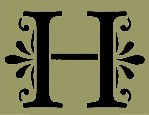 STENCIL Decorative Letter H 10x7