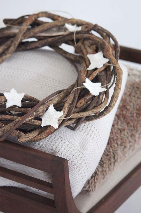 Coronas de Navidad.  Ideas de decoracion de Navidad. Estrellas de Navidad