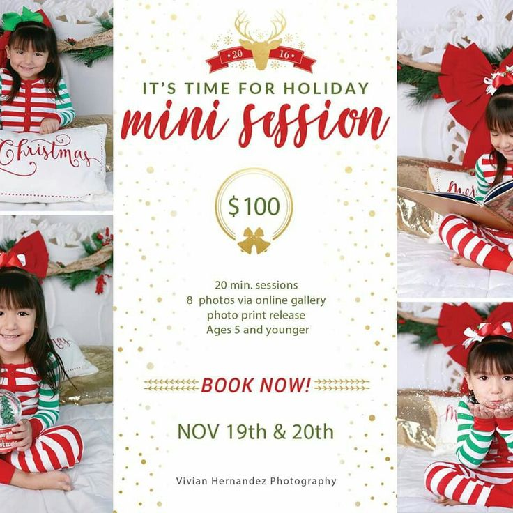 Here it is our holiday template created by Vivian Hernandez Photography. If you still need a holiday mini session, this will be suit for your photo service. We wish you good luck Vivian!