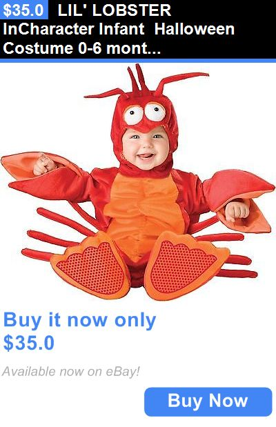 Halloween Costumes Kids: Lil Lobster Incharacter Infant Halloween Costume 0-6 Months BUY IT NOW ONLY: $35.0
