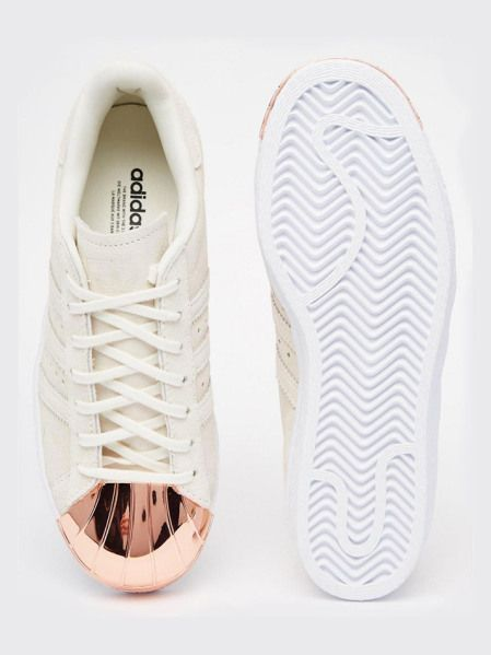 Adidas Originals Superstar 80s Rose Gold Metal Toe Cap Sneakers $120