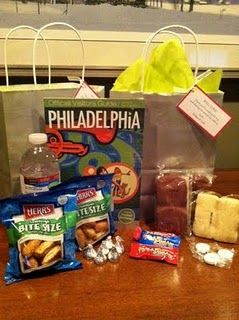 Hotel Welcome Bags- Philadelphia Theme ? Wedding Welcome Bags ...