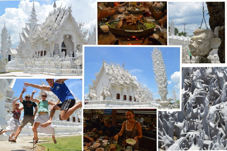 Chiang Rai and the white temple - collage