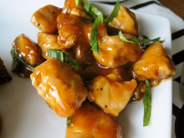Spicy Basil Chicken, Chinese Take Out Fake Out! So easy and uses just ...