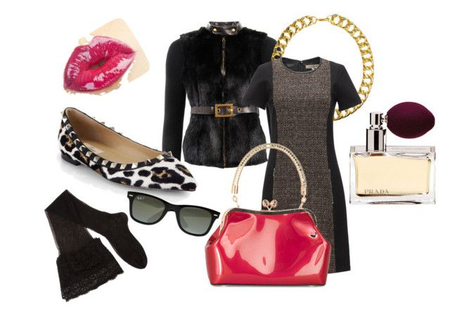 Milan Fashion week by motetta on Polyvore featuring Jigsaw, Gucci, CERVIN, Valentino, Gogo Philip, Ray-Ban and Prada