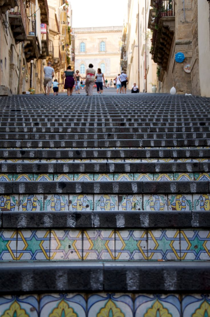 .The stairs in Caltagirone.. with beautiful traditional ceramics!! #enna #sicilia #sicily