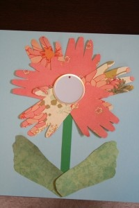 Mother's Day Craft For Toddlers – Hand and Foot Print Flower