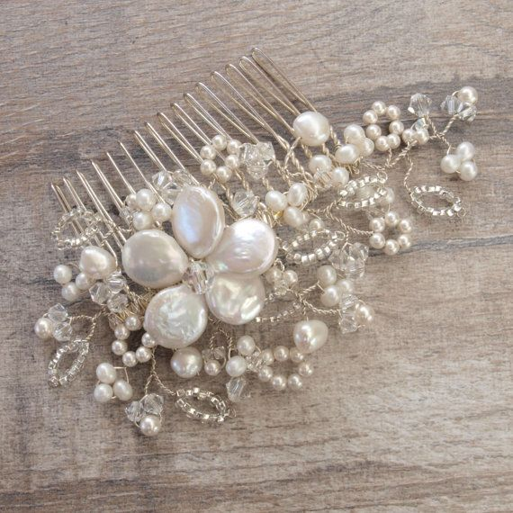 Antique Lace Hair Comb Floral Headpiece Lace by jewellerymadebyme