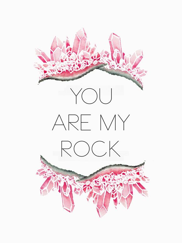 You Are My Rock - Pink Canvas Art