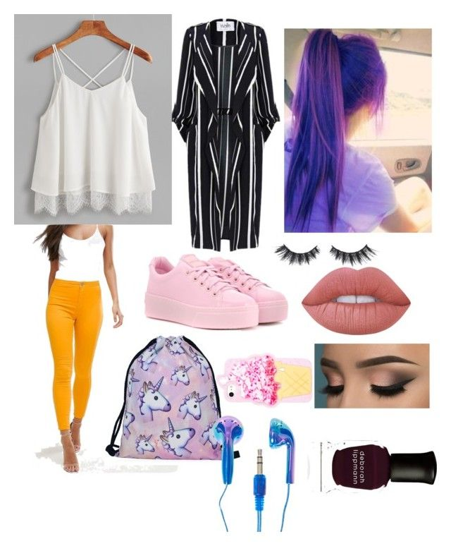 """""""Untitled #31"""" by maria-klrt on Polyvore featuring ASOS, Kenzo, Violet Voss, Lime Crime and Deborah Lippmann"""