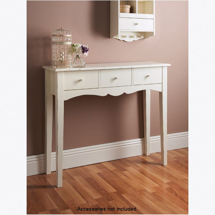 BM Stores Products  Victoria 3 Drawer Console Table