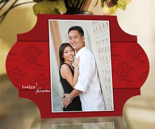 DIY chinese wedding invitation | Chinese Wedding Card Design Photograph | WED-244-Chinese-Wed