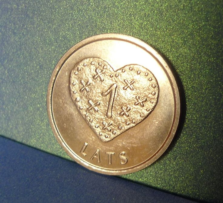 pa. Latvia 1 LATS 2011 BGINGERBREAD HEART - Coin for Luck Souvenir Collection Collectibles coin numismatic Jewelry making Scrapbooking by ForCollecting on Etsy