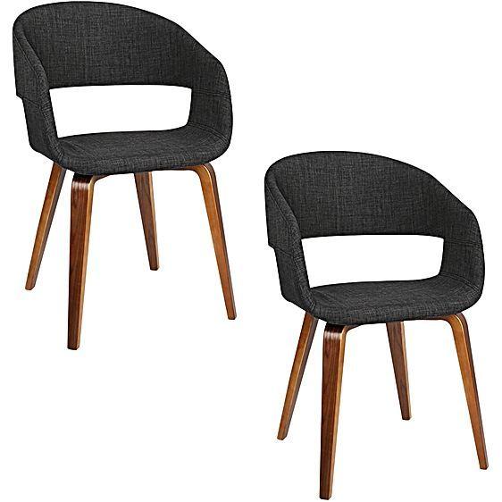 Mota Dining Chair, Charcoal (Set Of 2) by Resort Living   Zanui