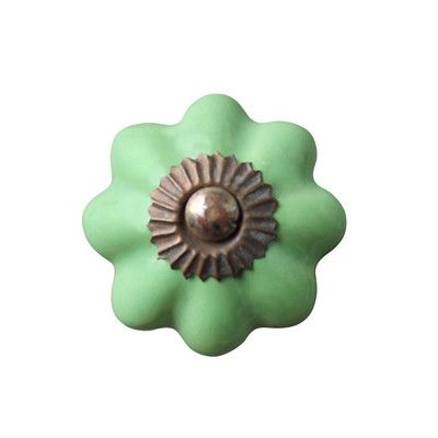 Drawer Knobs - Ceramic Flower | Pony Lane