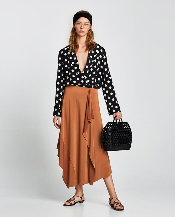 ZARA - WOMAN - LONG ASYMMETRIC SKIRT