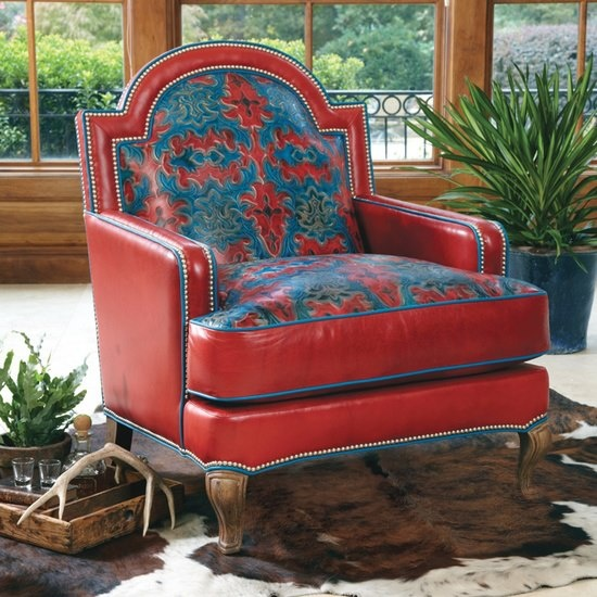 Love this red, leather chair!