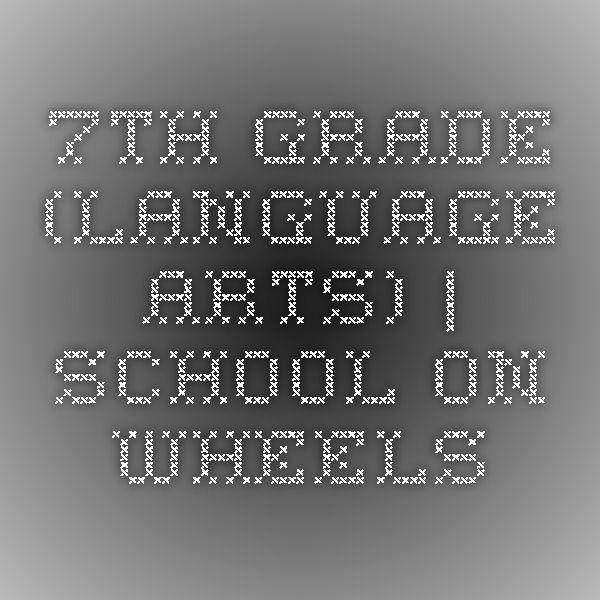 39 best language arts images on pinterest high school homeschool 7th grade language arts school on wheels fandeluxe Images