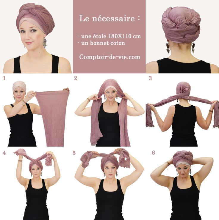 tutoriel foulard crois projets essayer pinterest turbans. Black Bedroom Furniture Sets. Home Design Ideas