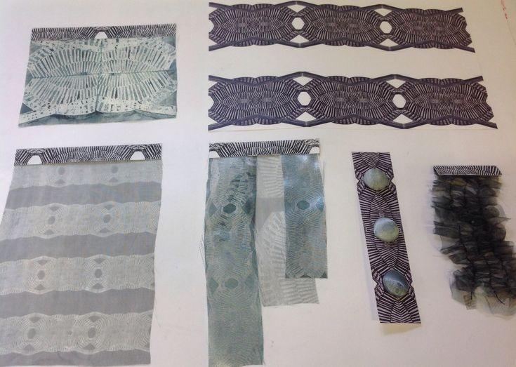 Dysperse dye samples textiles A Level Cardinal Newman College Emily Kellett