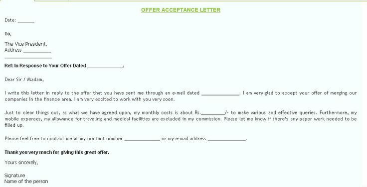 The Offer Acceptance letter is made to inform that you are - job offer acceptance letter