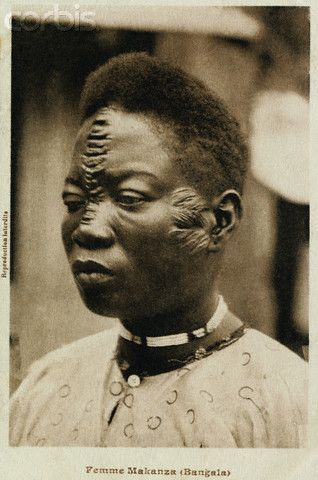 Africa | A Bangala woman from Makanza DR Congo (then Belgian Congo). ca. 1900 - 1939 || © Mark Rykoff