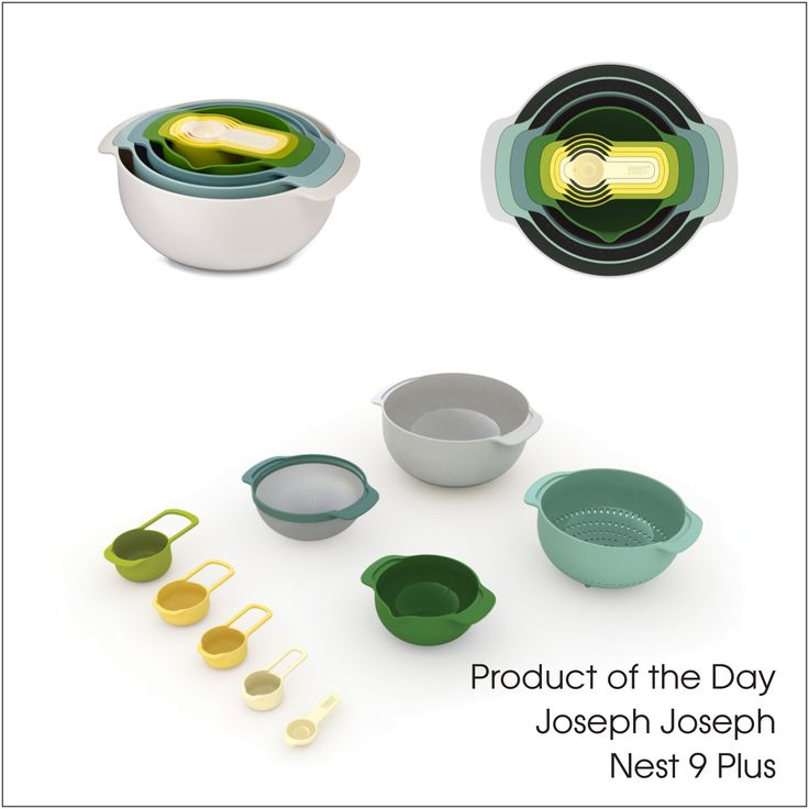 Product of the Day - Joseph Joseph Nest 9 Plus in Opal. Innovative, quality products, beautiful to use and even better to store. http://ow.ly/9gac302RHGR #josephjoseph #homedecor #perth #starstyle #kitchen #homewares