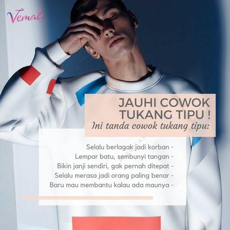 Tampilan boleh oke, tapi kalau tukang tipu? BIG NO! Kenali tanda-tanda cowok tukang tipu agar tak sampai jadi korbannya Ladies.  Selengkapnya di : bit.ly/cowoktipuvemale  #vemaledotcom #ruangvemale #sharingajasis #vemalelove #vemaletips #lovetips #tipscinta #april #good2share