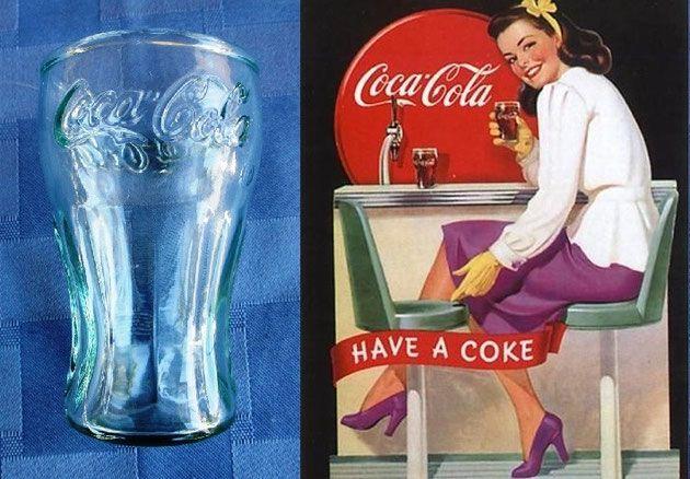 "Mini vasito de Coca-Cola de 3⅛"" de alto y dos onzas de capacidad, ideal como chupito (whiskey o vaso shot) / Coca Cola glass small light green 2 ounces glass 3⅛"" tall ~ Miniature classic shape collectible Coca-Cola green tint glass"