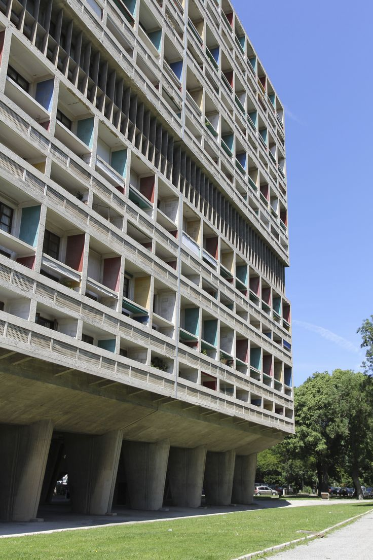 Built by Le Corbusier in Marseille, France with date 1952. Images by Flickr User: dom dada. After World War II, the need for housing was at an unprecedented high. The Unite d'Habitation in Marseille, France wa...