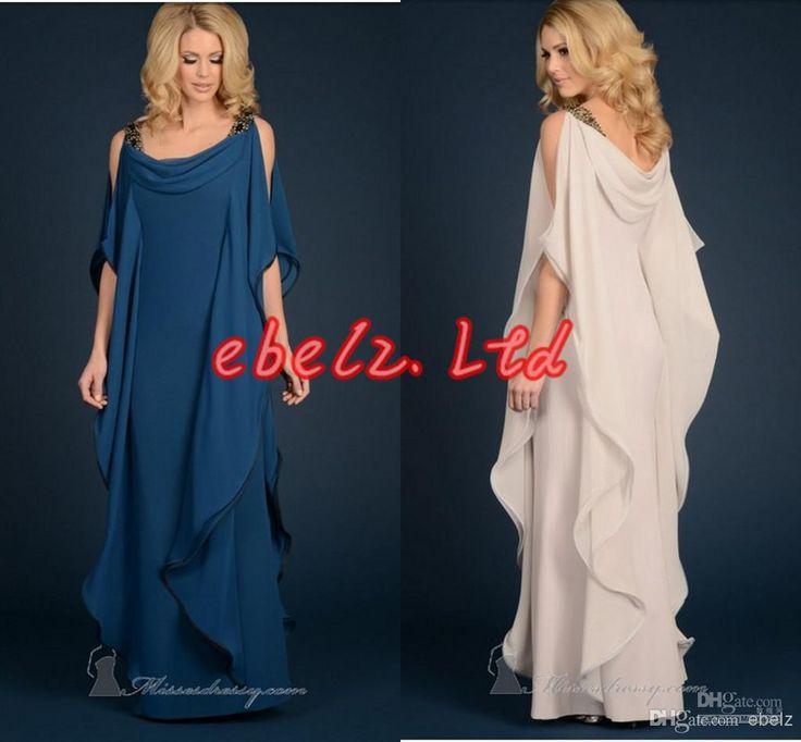 2014 New TARIK EDIZ Evening Dresses Sheath Scoop Chiffon Pleat Ruched Bedas Gold Sequins Poet Pageant Gown Formal Dress Online with $92.18/Piece on Ebelz's Store | DHgate.com