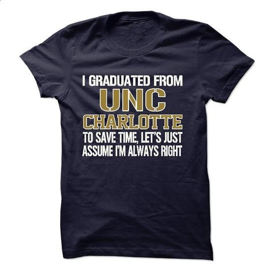 GRADUATED FROM UNC Charlotte !!! - #free t shirt #plain hoodies. I WANT THIS => https://www.sunfrog.com/LifeStyle/GRADUATED-FROM-UNC-Charlotte-.html?60505