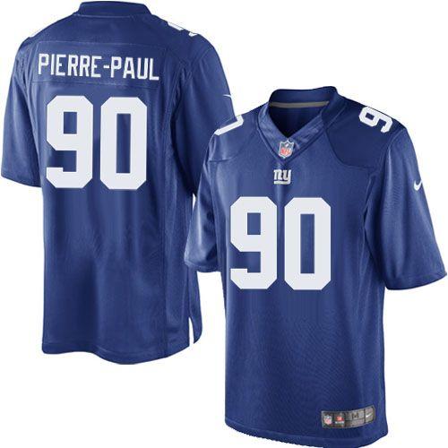 Men's Nike New York Giants #90 Jason Pierre-Paul Limited Team Color Blue Jersey $69.99