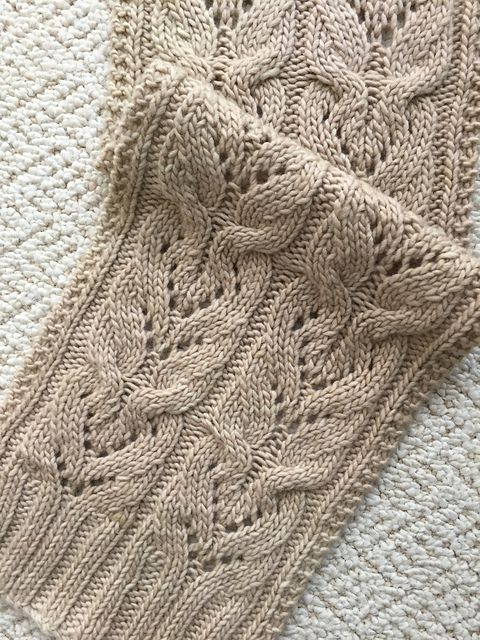 Ravelry: The Heartflower Cabled Scarf pattern by Donna Brooks