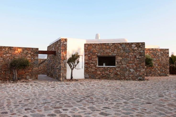 Exterior view,House in Greece, Mikonos,Vernacular