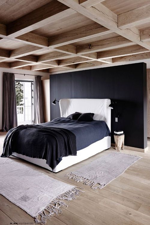 black headboard wall