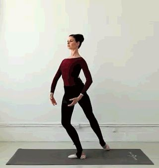 Learn how to do a ballet lunge lift from ballerina Mary Helen Bowers of Ballet Beautiful.